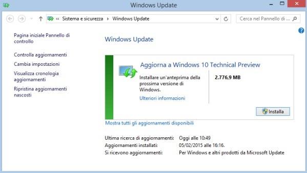 windows 10 tech preview update